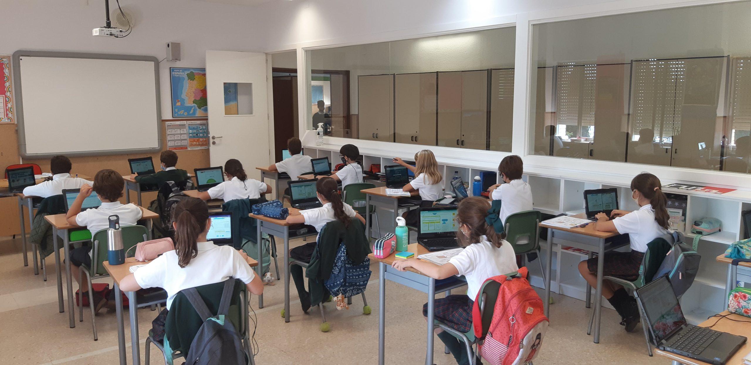 Uso Chromebooks en Irlandesas El Soto